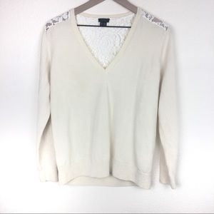 Theory Long Sleeve Sweater With Lace Back